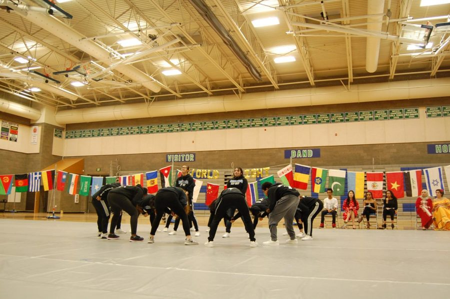 The Hip Hop team performs the same routine they took to the WIAA state dance competition.