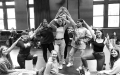 Above and below: Students rehearse after school for the spring musical,