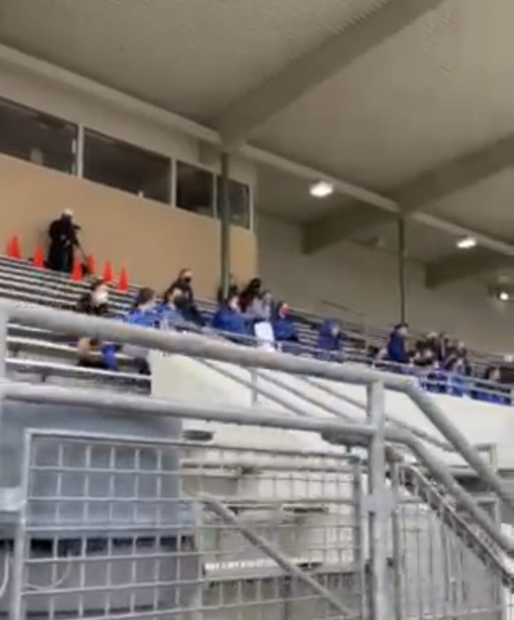 People in the stands at one of the football games